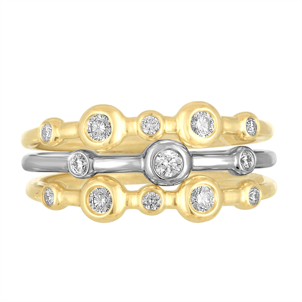 18K Yellow Gold Mariel Stack Trio