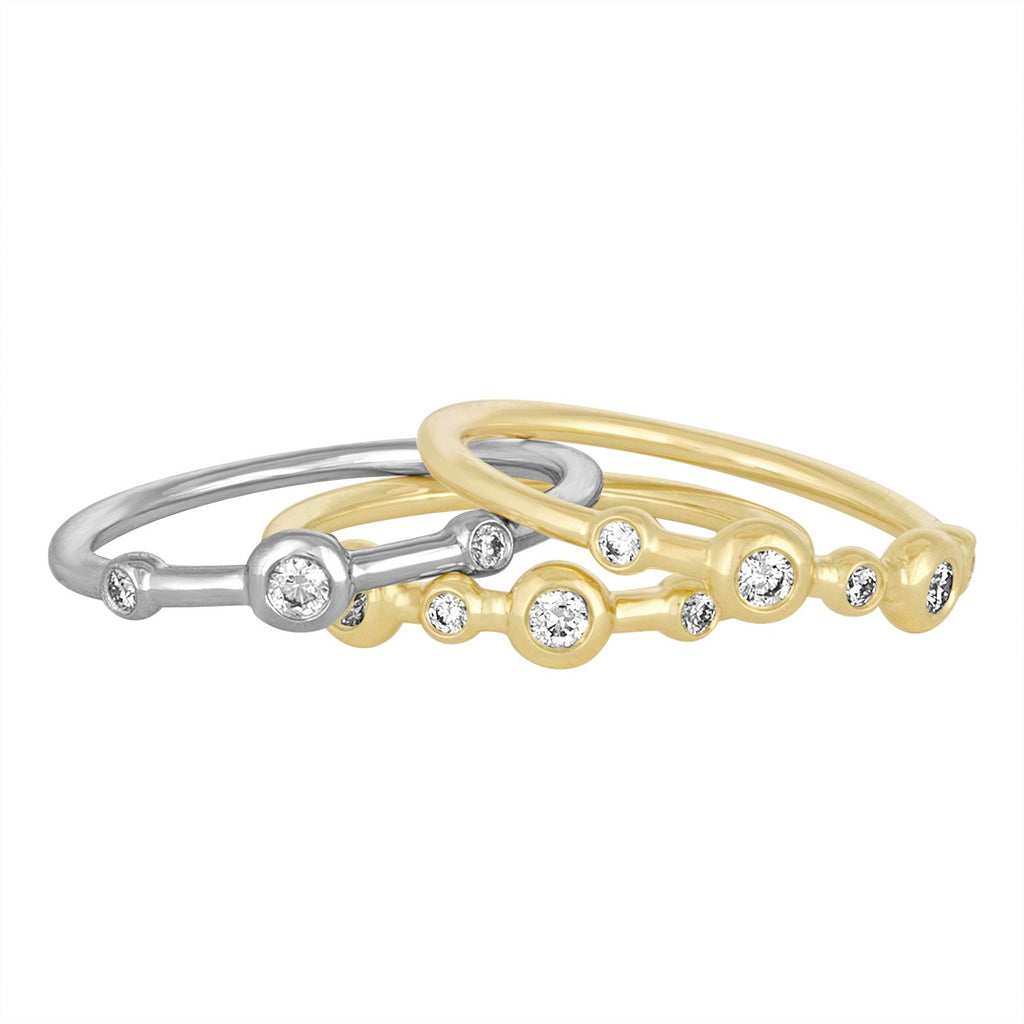 *18K Yellow Gold Mariel Stack Trio