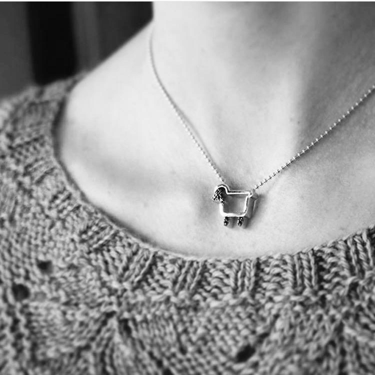 *Sterling Silver Signature Logo Necklace