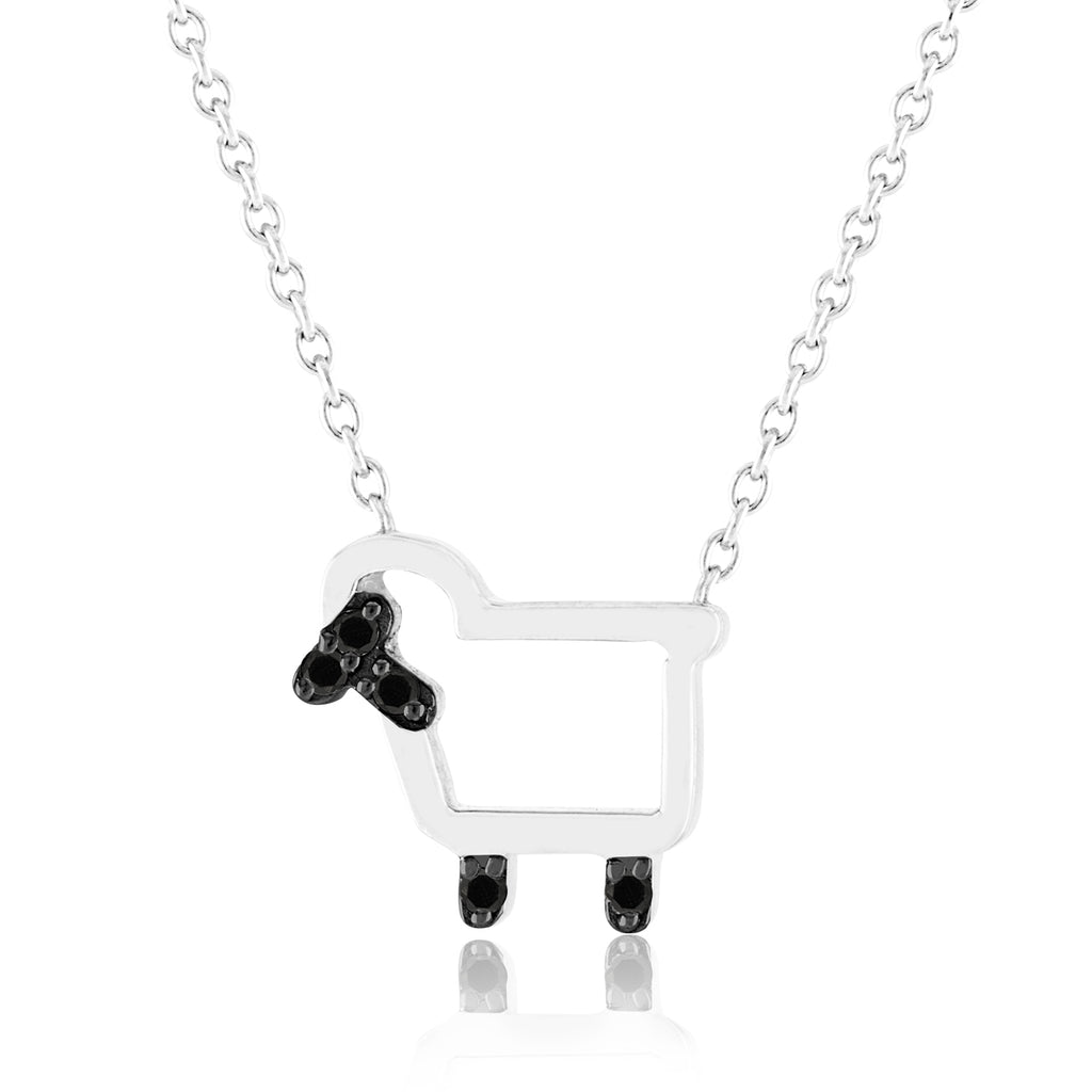 Small Signature Lamb Bling Necklace