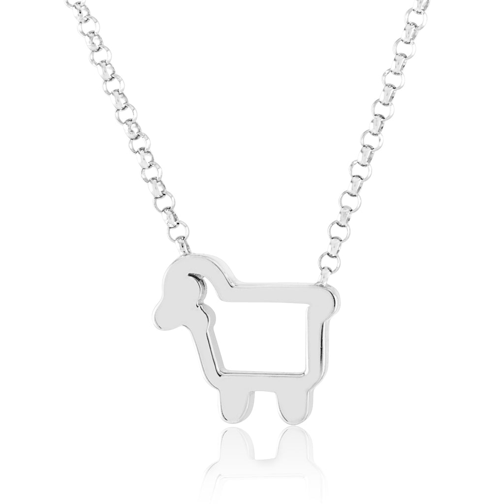 Only Ewe Sterling Silver Lamb Necklace