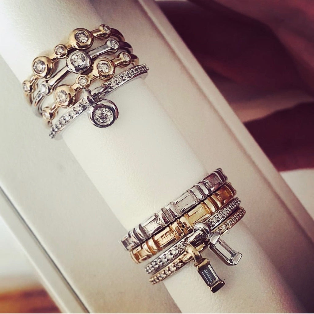 Platinum 'Watch Me Whip' Charm Ring