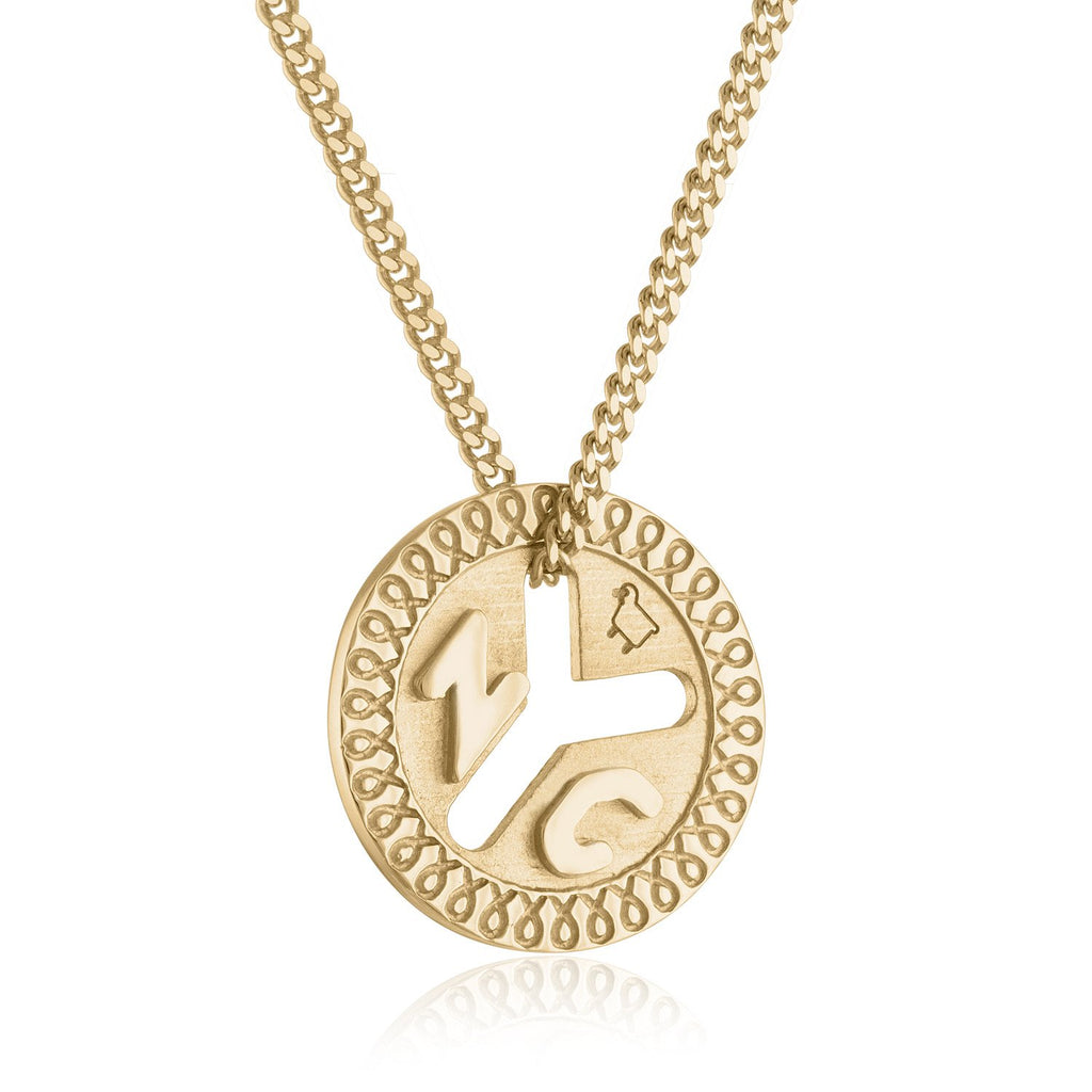18K Yellow Gold NYC 'REPRESENT' Token Necklace