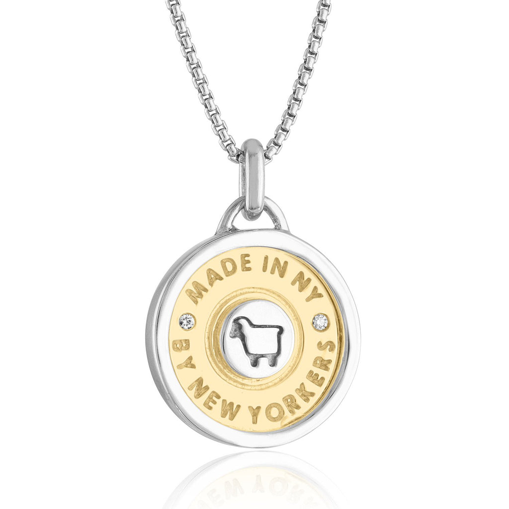 """Made in NY"" Framed Token Necklace II"