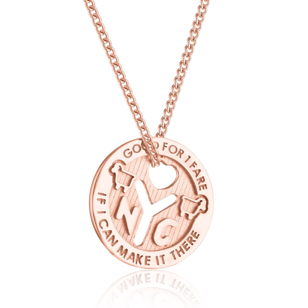 14K Rose Gold NYC Love Token Necklace