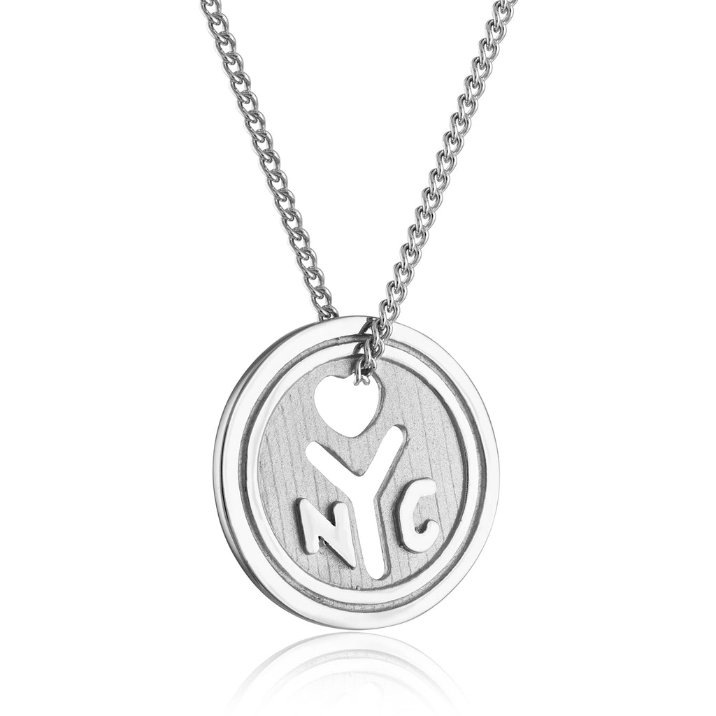 *Sterling Silver NYC Love Token Necklace