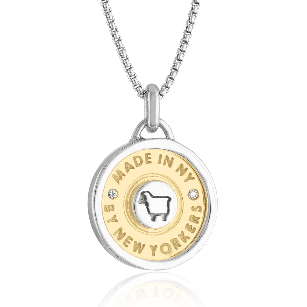 18K Yellow Gold & Sterling NYC 'Rush Hour' Necklace