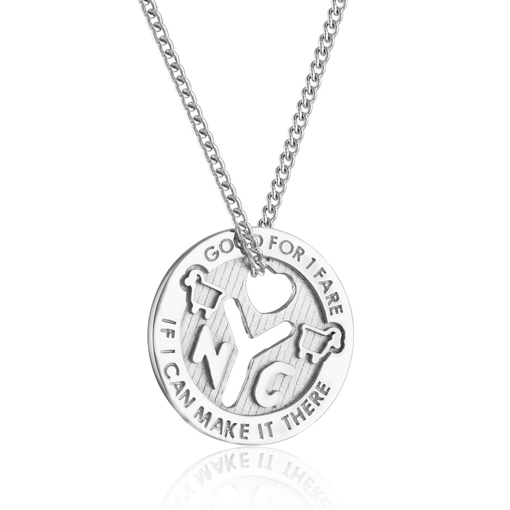 Sterling Silver NYC Love Token Necklace