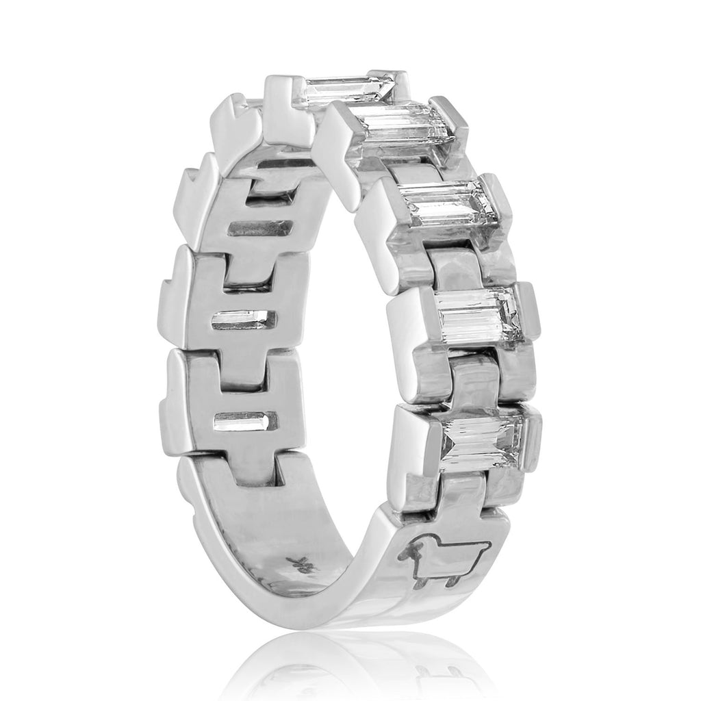 18K White Gold or Platinum The Freelancer Ring