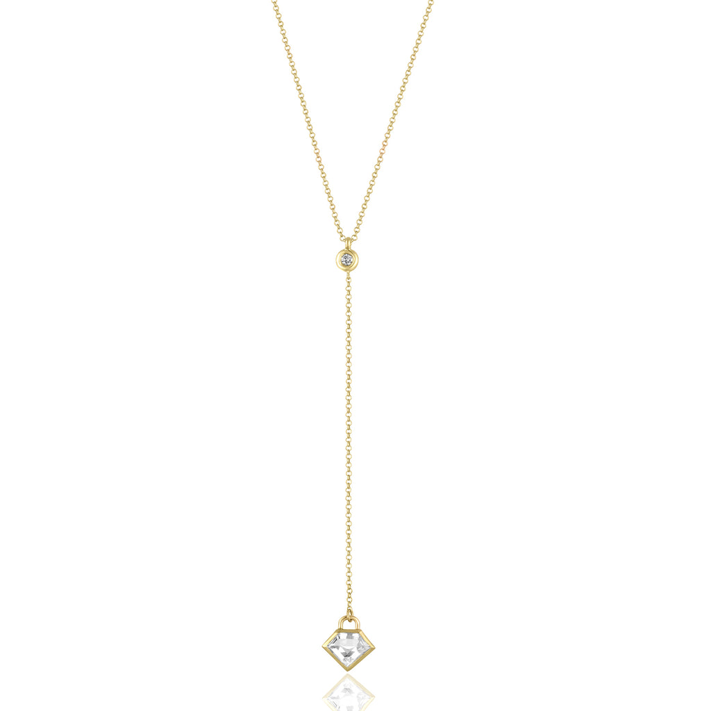 *18K Yellow Gold Lane Lariat Necklace