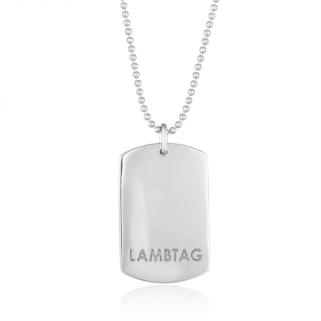 Large Sterling Silver 'I Love Ewe' Lambtag