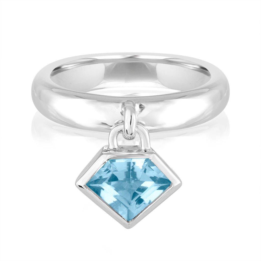 *Sterling Silver Super Polished Charm Ring