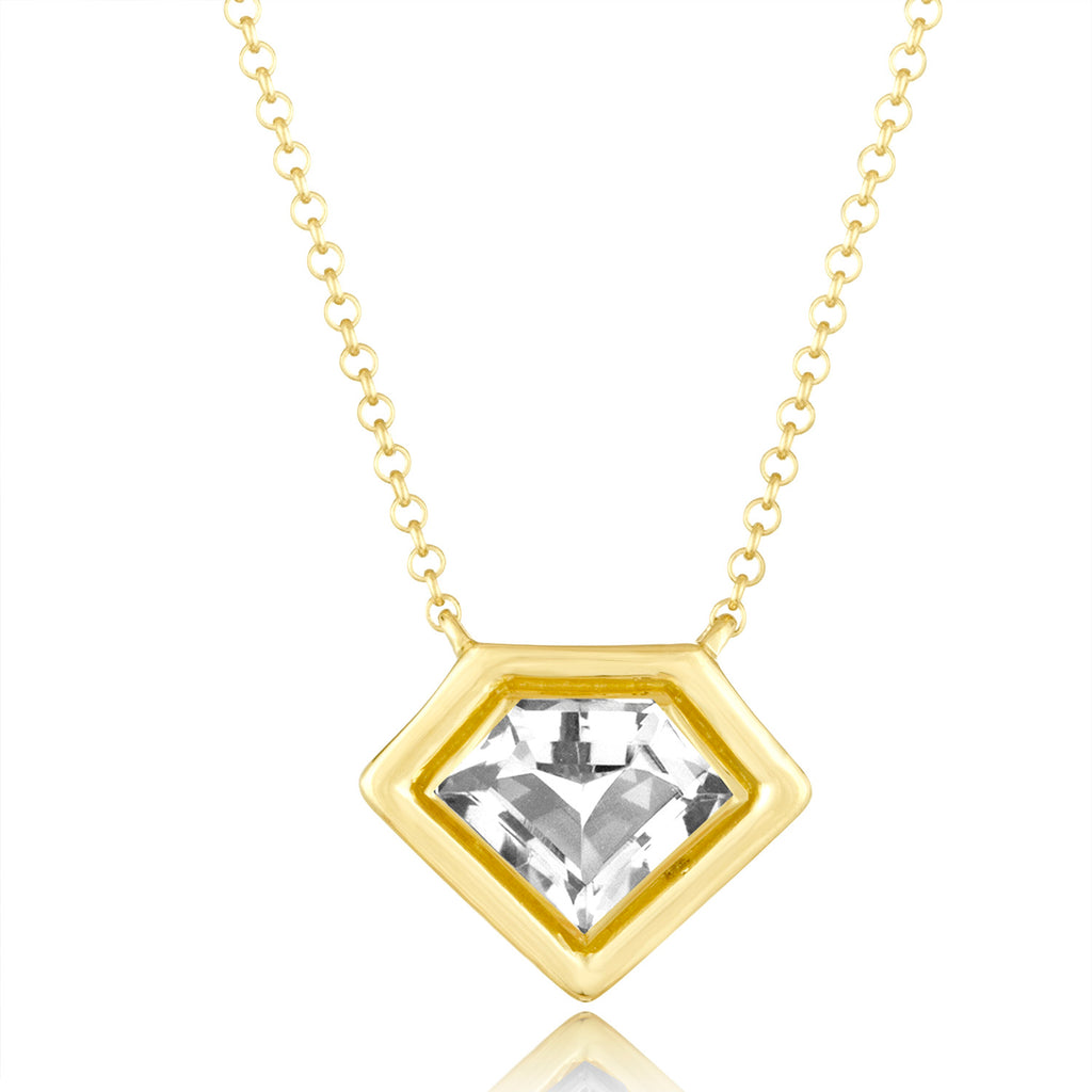 *18K Yellow Gold Super Polished Pendant