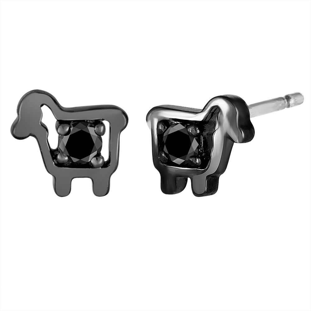 *Black Sheep Mini Logo Diamond Stud