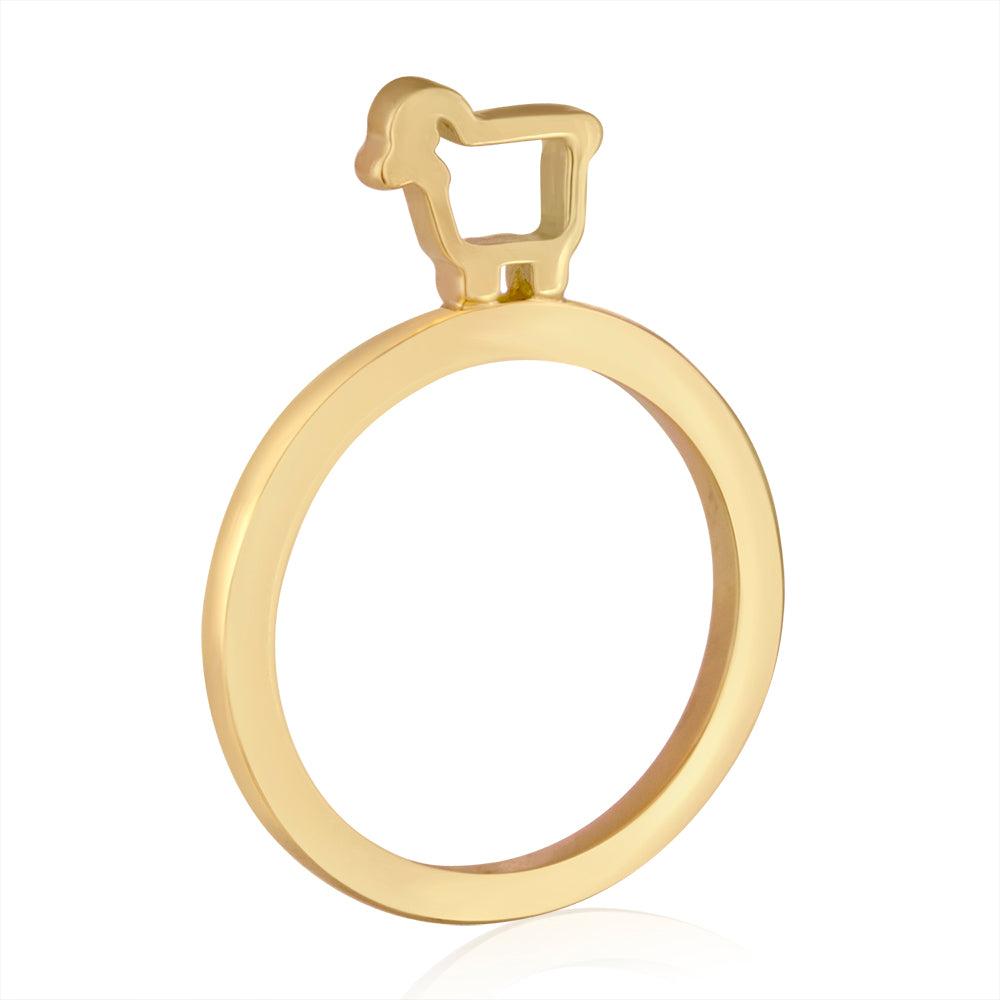 18K Yellow Gold Mini Slice Stacking Ring