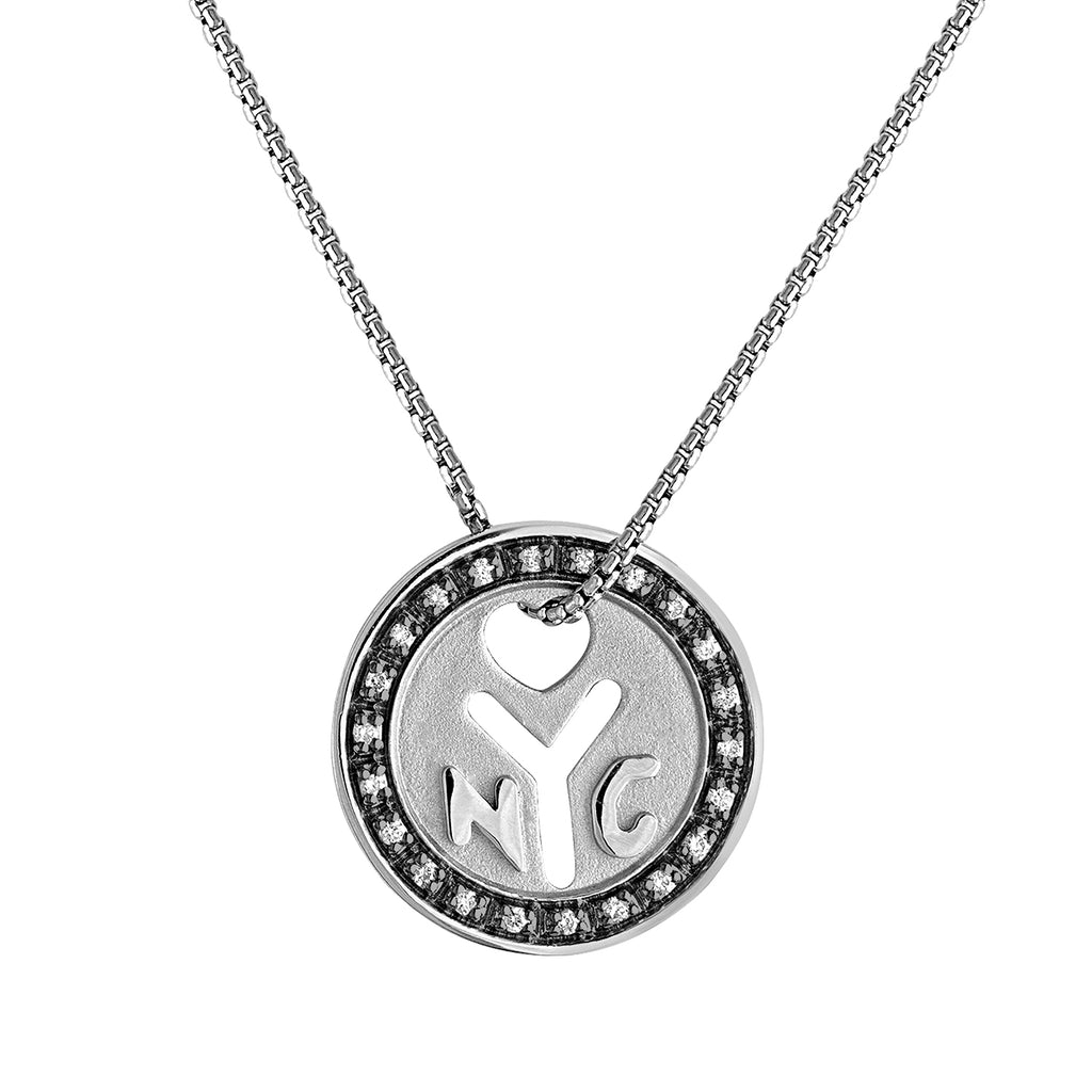 "*Sterling Silver NYC ""Make It There"" Token Necklace"