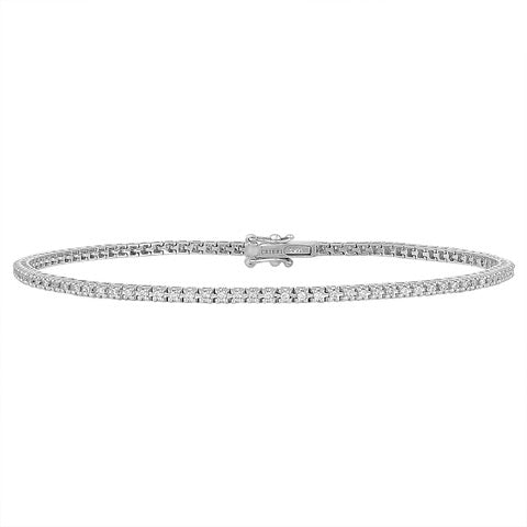 14K White Gold I Don't Play Tennis Bracelet