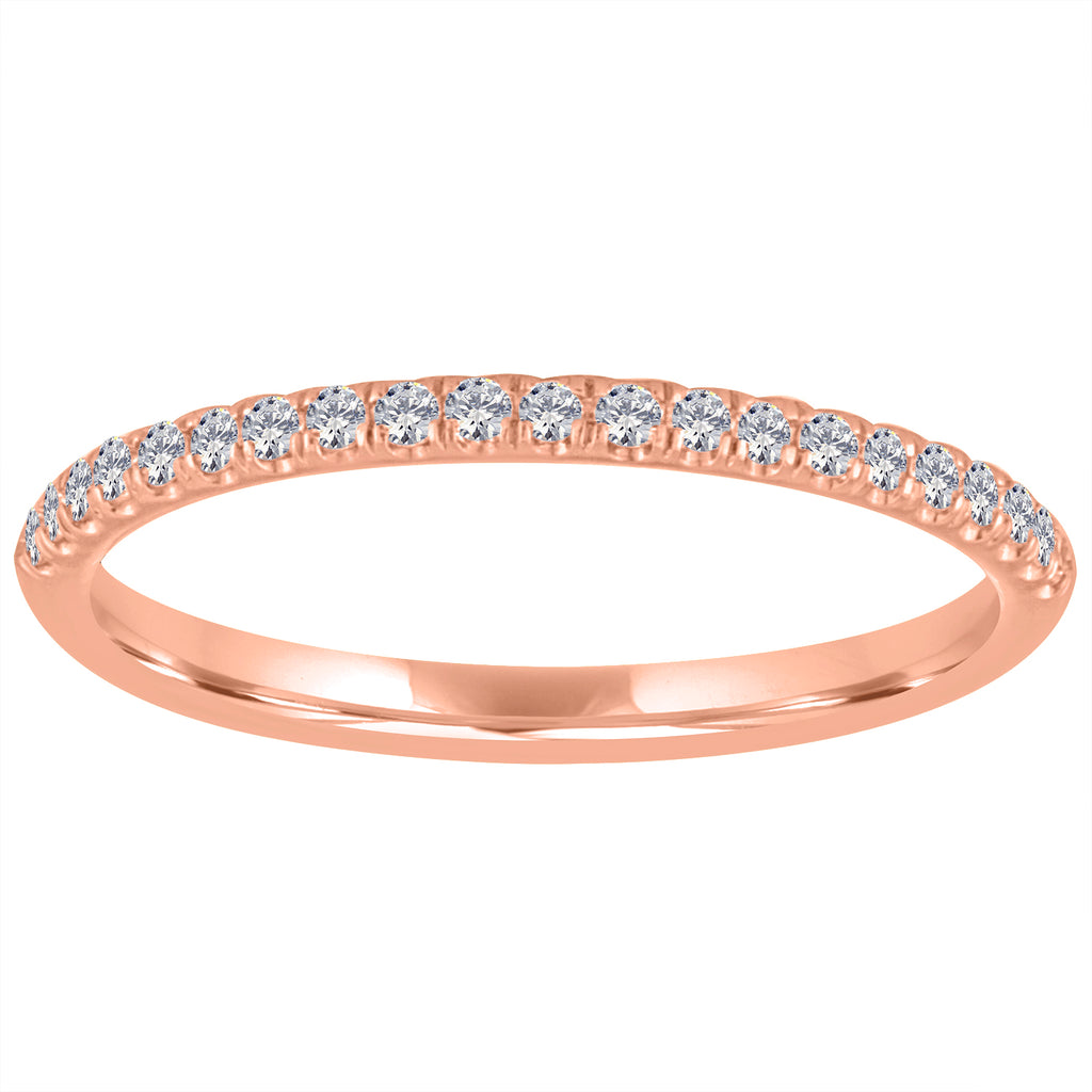 14K White or Rose Gold Singleton Slim Band