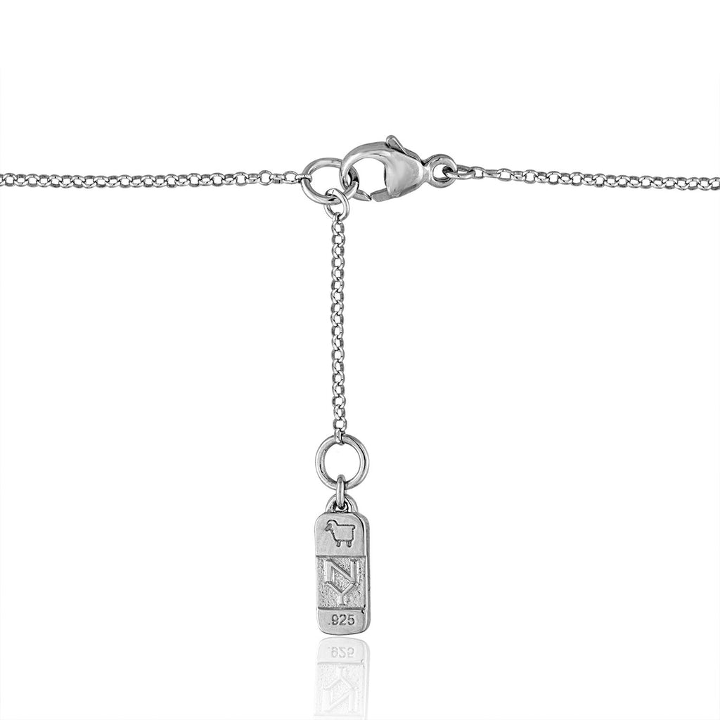 Sterling Silver Lois Lariat with Semi-Precious Stone and Diamond