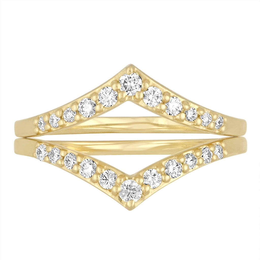 18K Yellow Gold Lila Chevron Ring