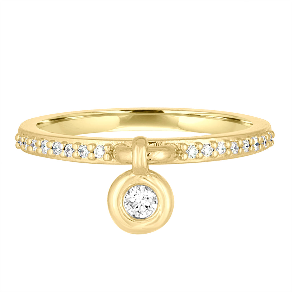 *18K Yellow Gold 'Queen of Bounce' Charm Ring