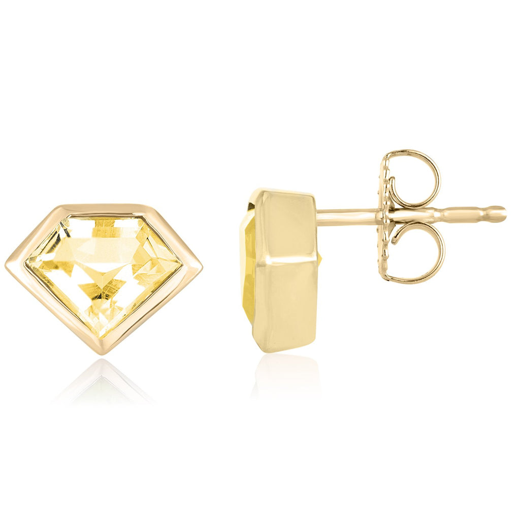 18K Yellow Gold Mini Super Stud Earrings