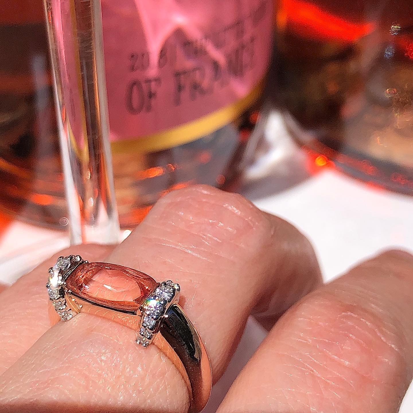 Imperial Topaz and diamond ring by Julie Lamb