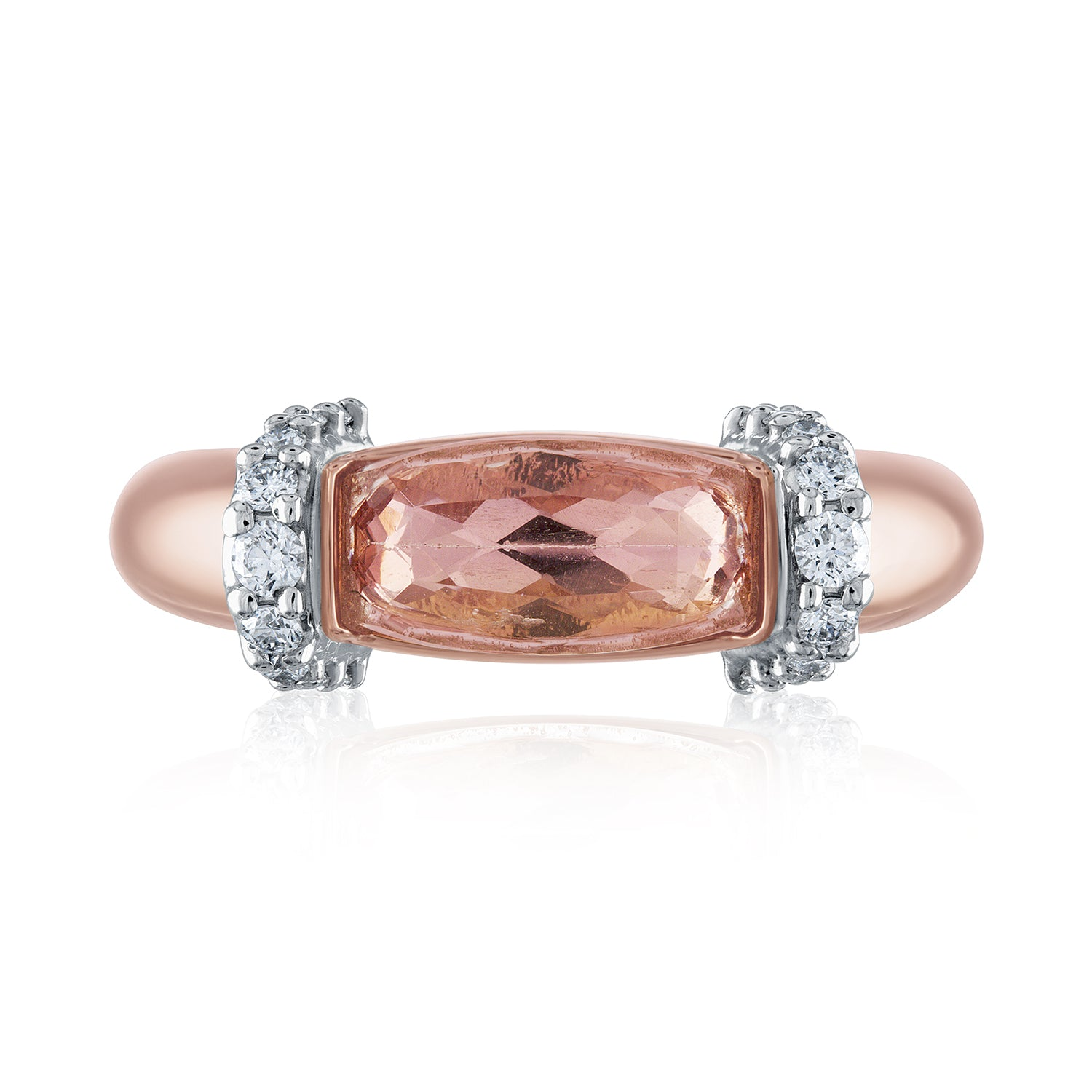 Imperial  Topaz and diamond cocktail ring