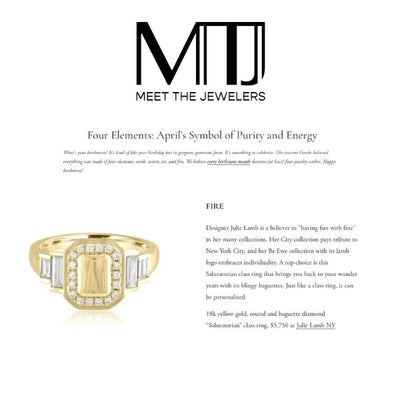 DIAMOND RINGS BY JULIE LAMB FEATURED IN MEET THE JEWELERS