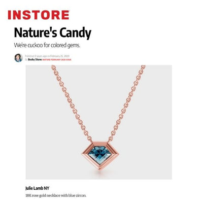 JULIA LAMB FEATURED IN INSTORE MAGAZIINE NATURES CANDY