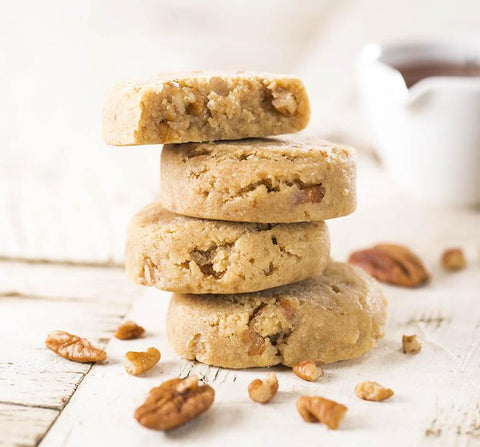 maple pecan paleo cookies