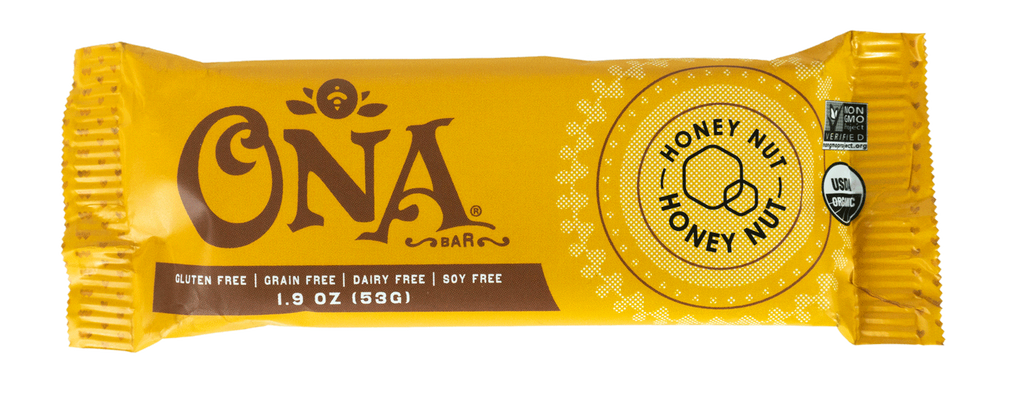 Ona Honey Nut Bar (12-Pack)