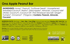 Ona Apple Peanut Bar (12-Pack)