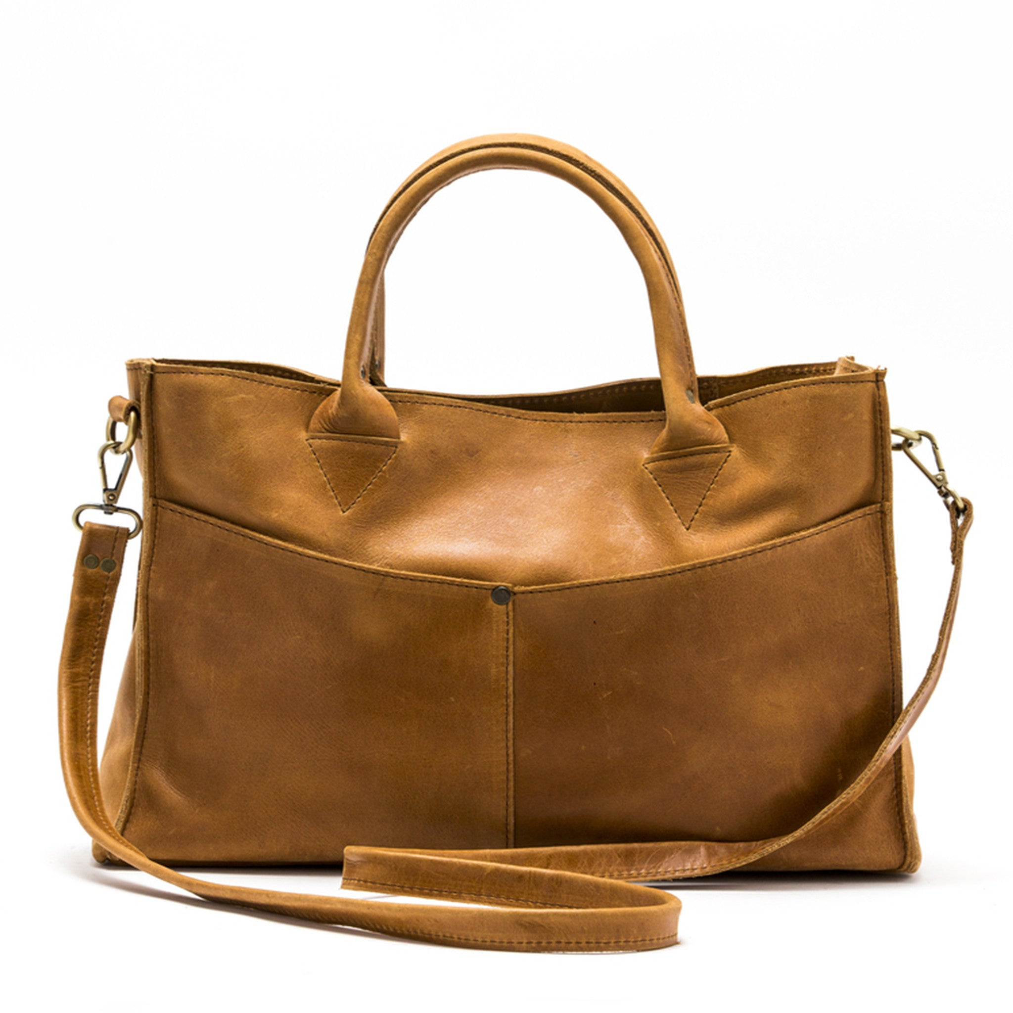 Kermen Convertible Handbag : Brown
