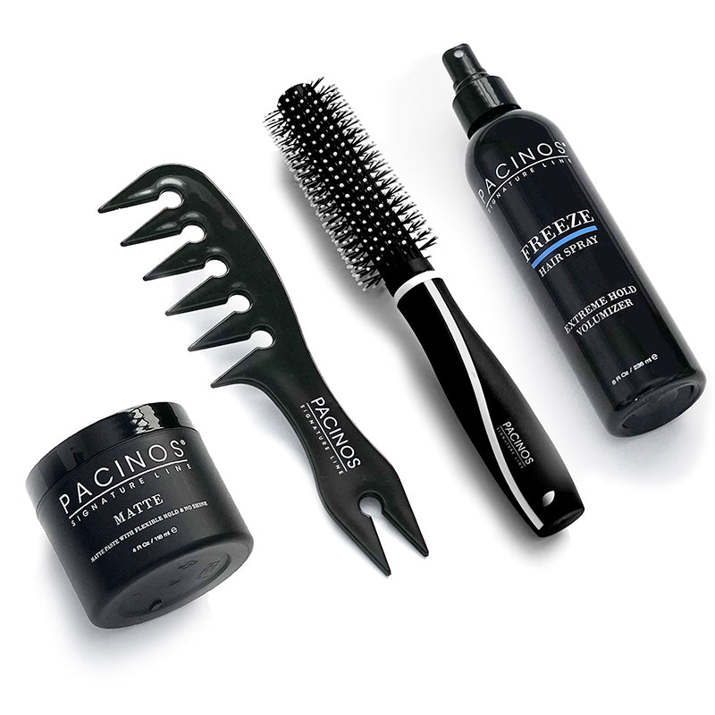 Matte + Wide Tooth Comb + Round Tip Brush + Freeze