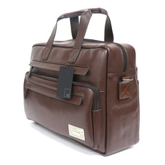 Hex Marquee Leather Briefcase