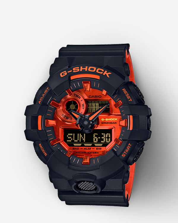 G-Shock Analog-Digital Watch - GA700BR-1A - Black/Orange