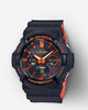 G-Shock Analog-Digital Watch - GAS100BR-1A - Black/Orange