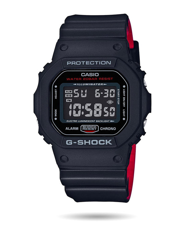 G-Shock Mens Watch - Black Red - DW-5600HR-1