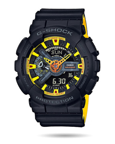 G-Shock Mens Watch - Black/Yellow - GA110BY-1A