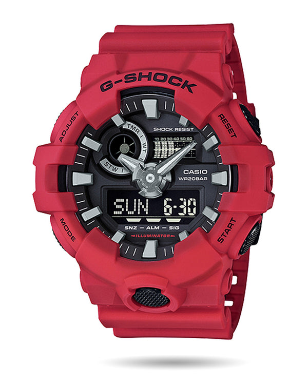 G-Shock Analog Digital Watch - GA700-4A - Red