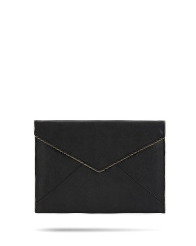 Rebecca Minkoff Leo Clutch Ultra Slim Sleeve 13 Inch - Black