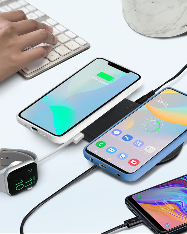 OCOMMO 4 in 1 Wireless Charging Pad for Android and Apple