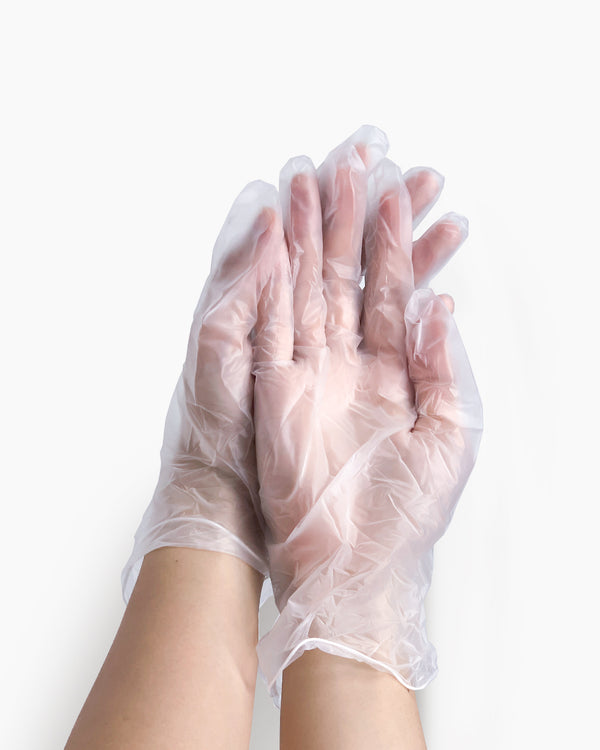 Latex-Free PVC Gloves 100 Pieces - Medium