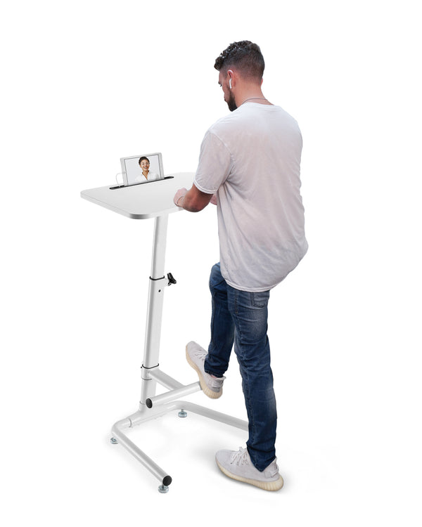 OCOMMO Standing Desk Workstation - White