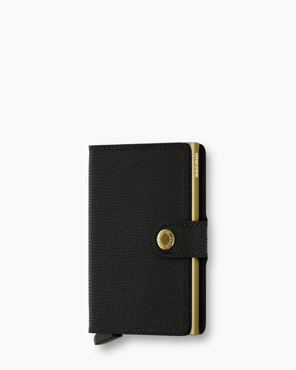 Secrid Mini Wallet Crisple Black and Gold