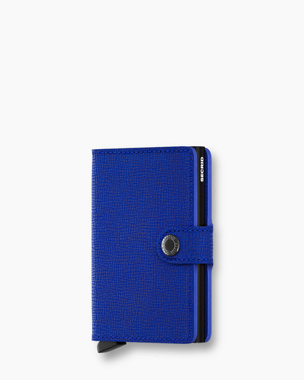 Secrid Mini Wallet Crisple Blue and Black