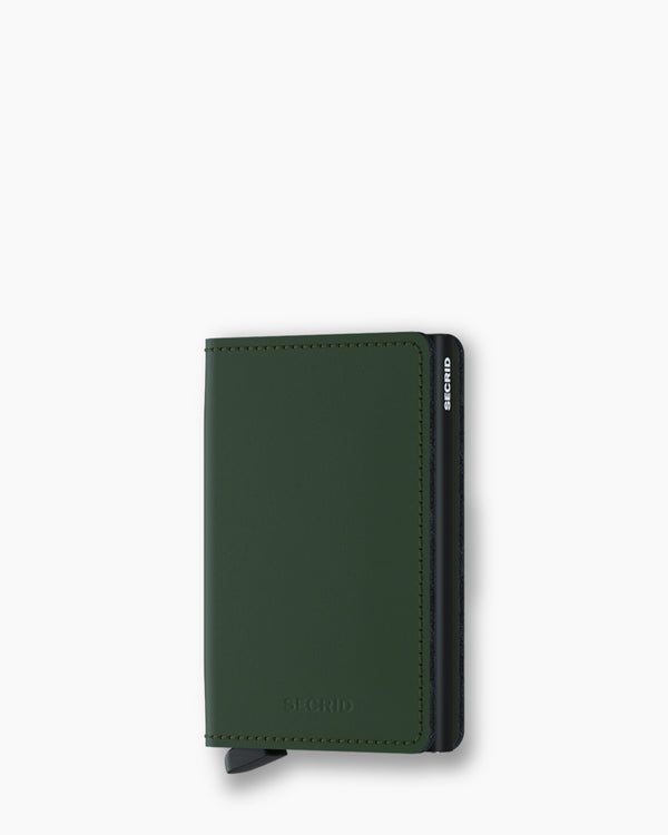 Secrid Slim Wallet Matte Green Black