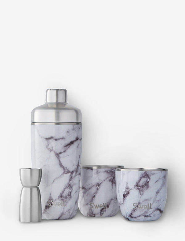 S'well White Marble Cocktail Kit - White Marble