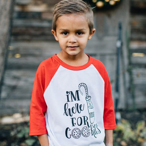 Here For The Cookies Raglan Tee {kids}